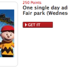 My Coke Rewards Wednesday Deal – 250 Points for 1 Free Cedar Fair Park Ticket!!