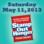 Stamp Out Hunger Food Drive this Saturday 5/10/13