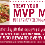 Champps Mother's Day Promotion + Bonus Gift Card Offer