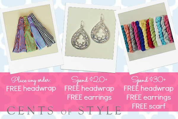 Freebie Fashion Friday on Cents of Style! Free Headwrap w/ Every Purchase + More!