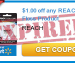 Print Now! Free Reach Floss with $1 Off Coupon!