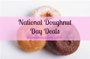 national doughnut day deals on MissiontoSave.com