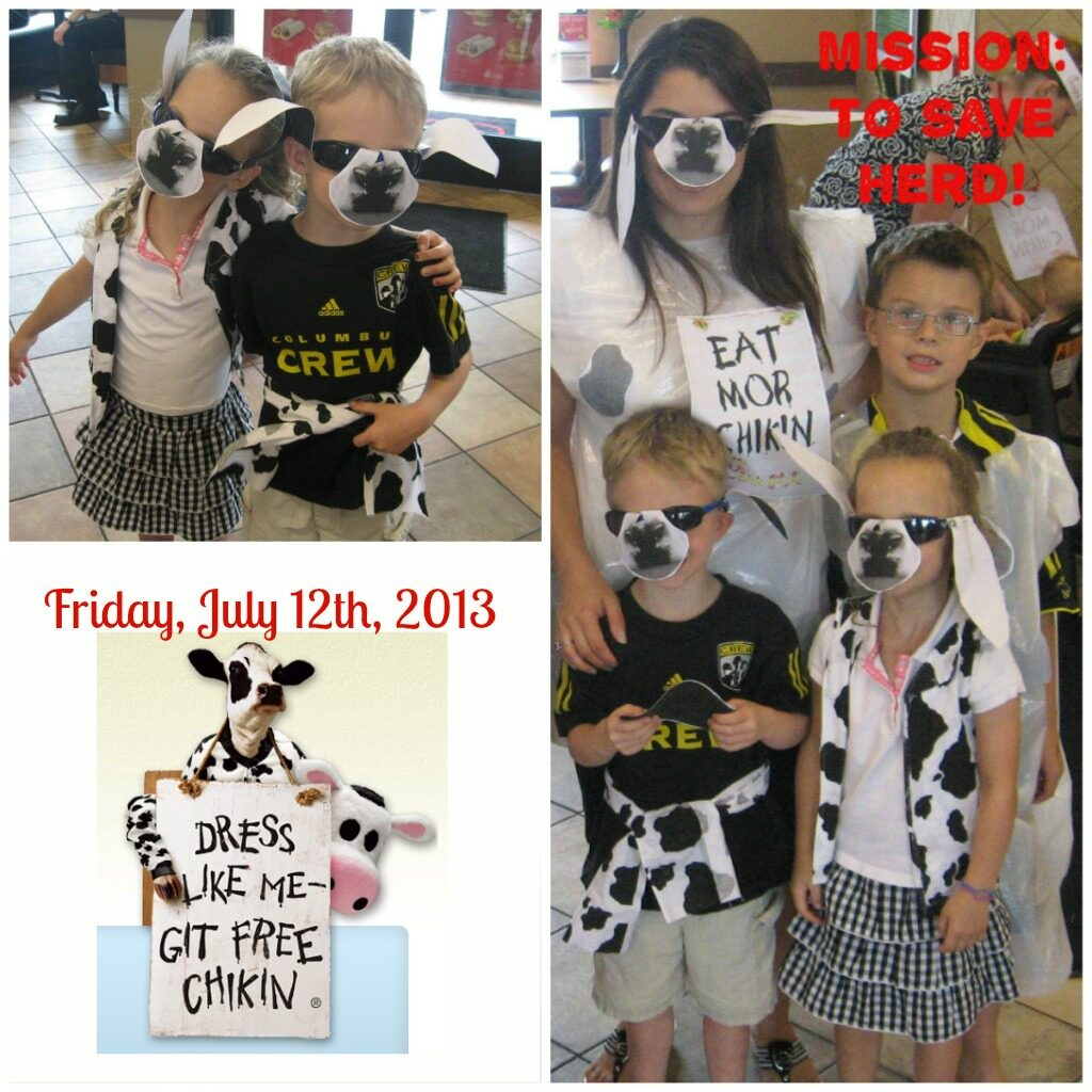 Chick-fil-A Cow Appreciation Day. Celebrate with Free Food on 7/12/13/  MisssiontoSave.com LOVES this promotion!
