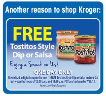 Free Tostitos Kroger Digital Coupon