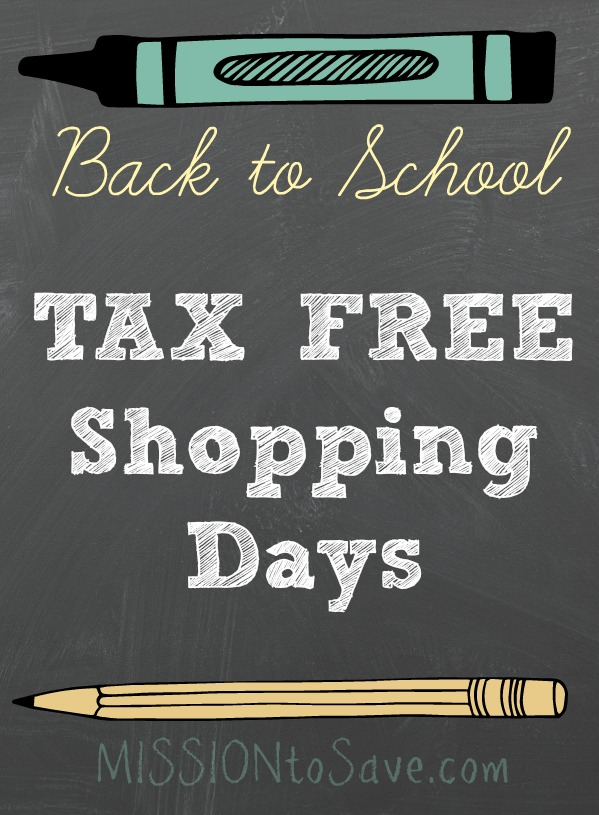 Check out this list of states participating in Back to School Tax Free Shopping Days this year. Save more on these weekends.