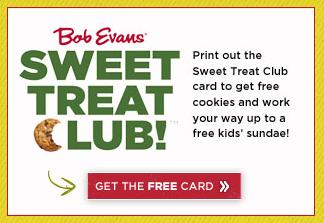 bob evans sweet treat club