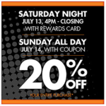 bog lots coupon for 20% off
