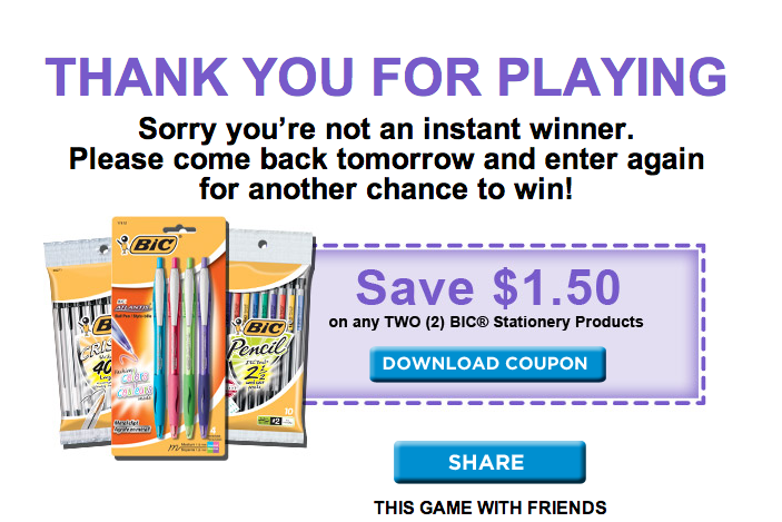 Printable coupons for bic lighters