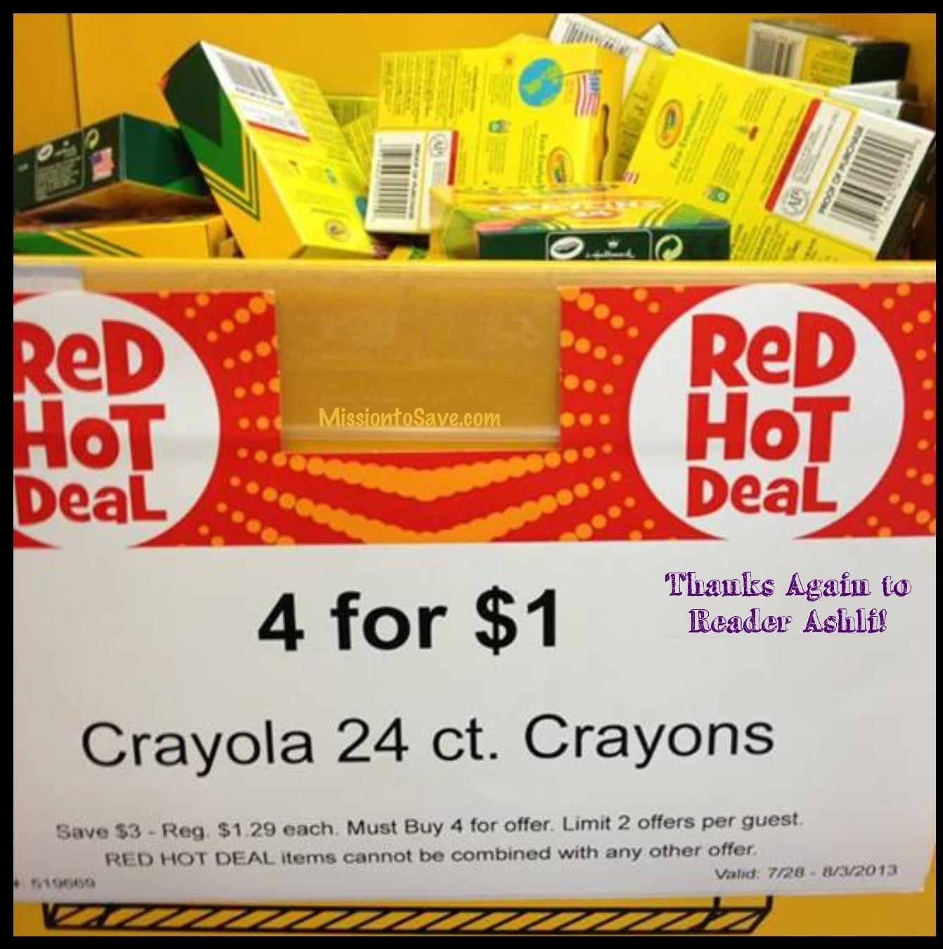It's Back! Unadvertised ToysRUs Crayola Sale- 4 for $1!