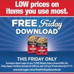 Kroger Free Friday Download- Hamburger Helper!  8/2/13