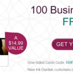 See missiontosave. to find out how to snag 100 free business cards!