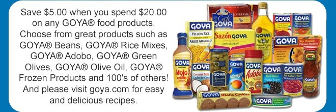 Rare Goya Coupons via SavingStar