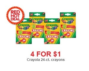 Toys R Us: Crayola Crayons on Sale 4 for $1 Again This Week