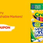 New Crayola Washable Markers Printable Coupon + Ibotta Offer = Cheapie!