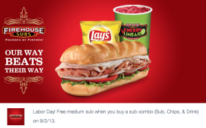firehouse subs labor day coupon