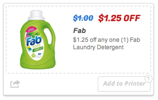 Fab Detergent for $0.75 at Family Dollar (Print Coupons Today Only!)