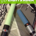 Frugal DIY Lightsaber for little Star Wars Fans- Use a Pool Noodle!