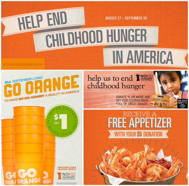 Dine Out for No Kid Hungry find some participating location on MissiontoSave.com