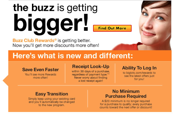 Big Lots Buzz Club Reward Program gets upgrade on 10/1/13!