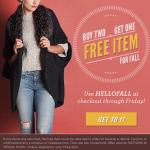 Buy 2, Get 1 Free Twice Promo Code!