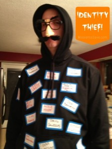identity thief costume on MissiontoSave.com