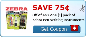 Dollar Tree: Zebra Pens for $0.25 after Printable Coupon
