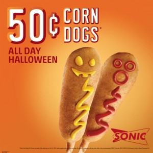 50 cent corn dog image for social media