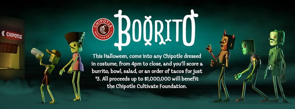 Halloween Chipotle Boorito $3 Deal - Mission: to Save