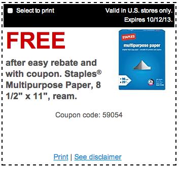 staples free paper
