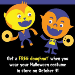 Wear Kostume for Free Krispy Kreme Doughnut on 10/31
