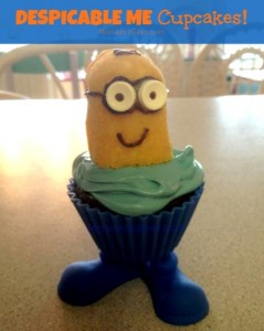 DIY despicable me cupcakes that look like minions with how to directions on missiontosave.com