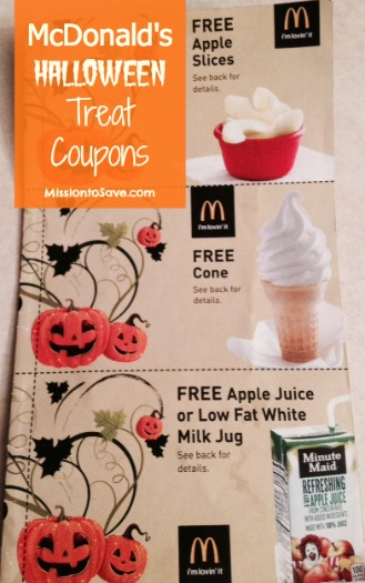 mcdonald's halloween treat coupons booklet- 12 freebies for $1 ...