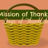 Mission of Thanks: 30 Days of Thankfulness #MissionOfThanks