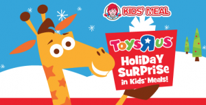 Toys r Us Gift Card Offer in Wendy's Kids Meals