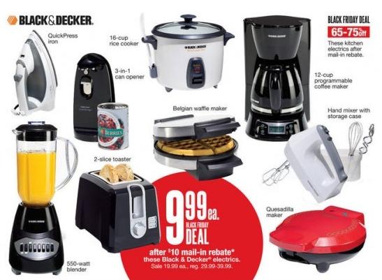 HOT! 3 Black & Decker Small Appliance For $1.99 Each