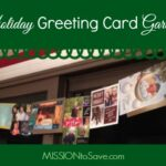 Holiday Greeting Card Garland. Use this super simple DIY idea for displaying all your Christmas cards this year.