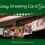 Simple Way to Display Holiday Cards- Greeting Card Garland!