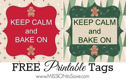 Keep Calm and Bake On Printable tags