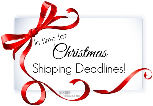 christmas shipping deadlines