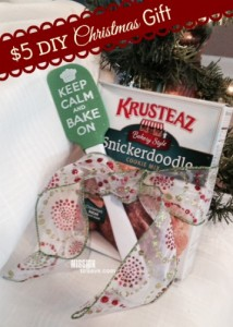 $5 DIY Christmas Gift : Keep Calm and Bake On (including printable tags) on missiontosave.com