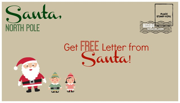 free letter from santa postmarked from north pole send by 12 15
