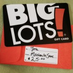 Enter to Win a Big Lots Gift Card on MissiontoSave.com