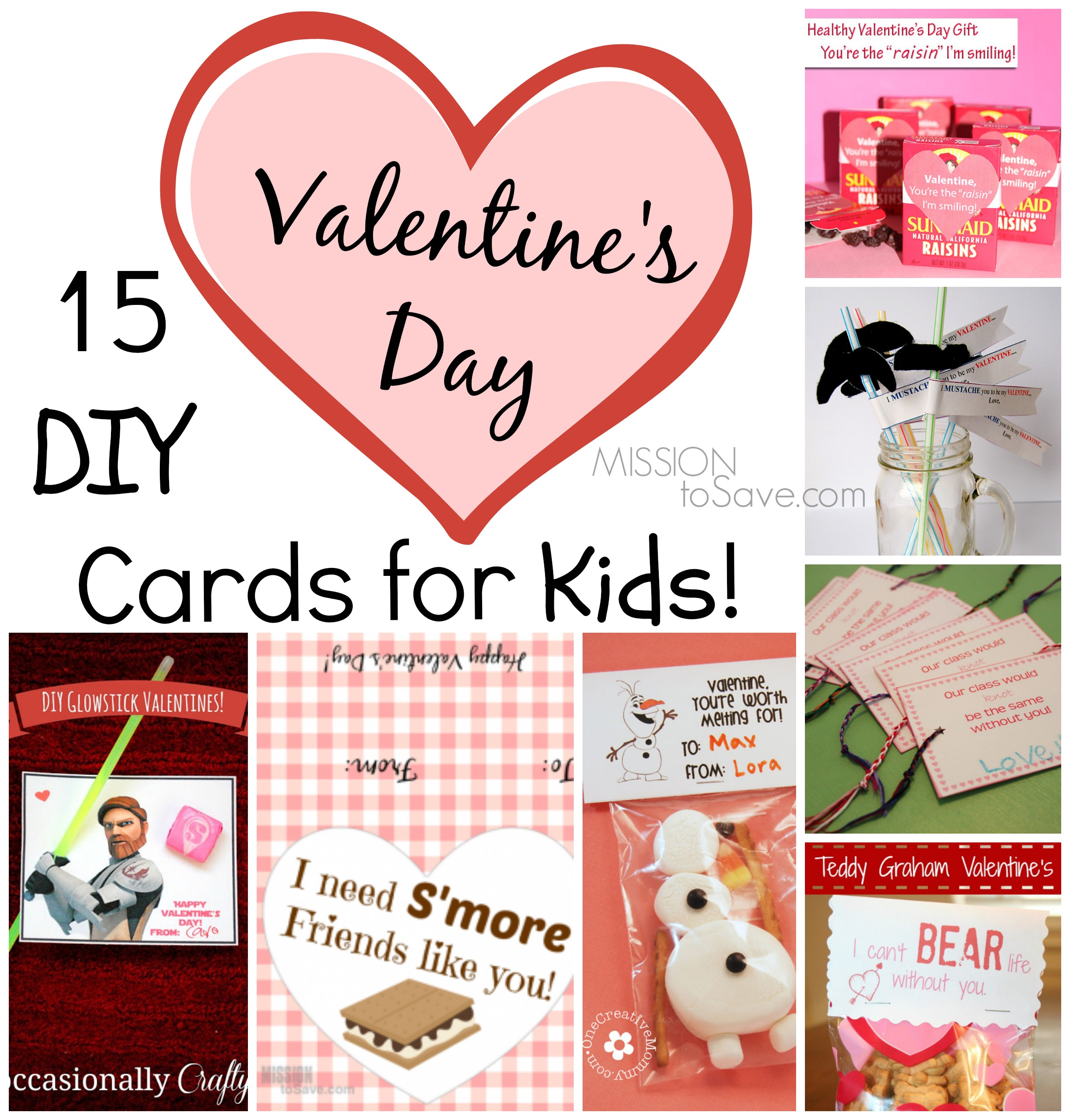 15 DIY Valentine Day Cards for Kids Mission to Save – Valentines Cards from Kids