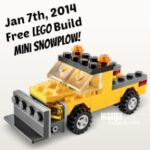 Jan 7th Free Lego Build is a Mini SnowPlow!
