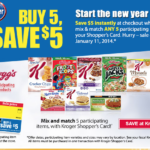 Kellogg's Savings on Checkout 51: Kroger Mega Sale and Walmart Gift Card Deals