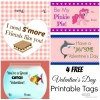 4 FREE Valentine's Day Printable Tags