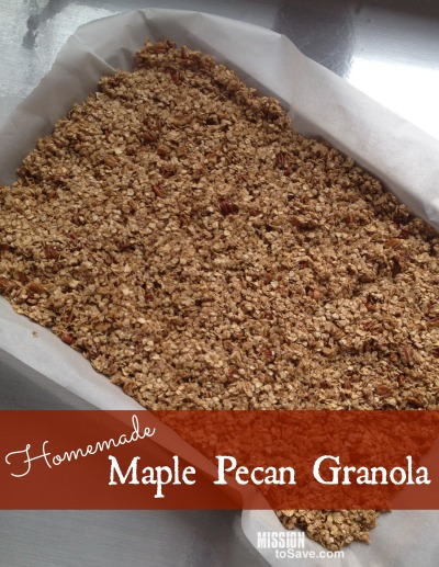 Awesome Homemade Maple Pecan Granola Recipe - Mission: to Save