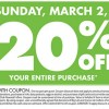 Big Lots Coupon for 20% off!