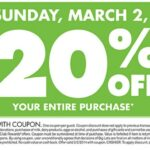 Big Lots 20% Off Coupon Weekend is Back! (3/1-3/2/14)