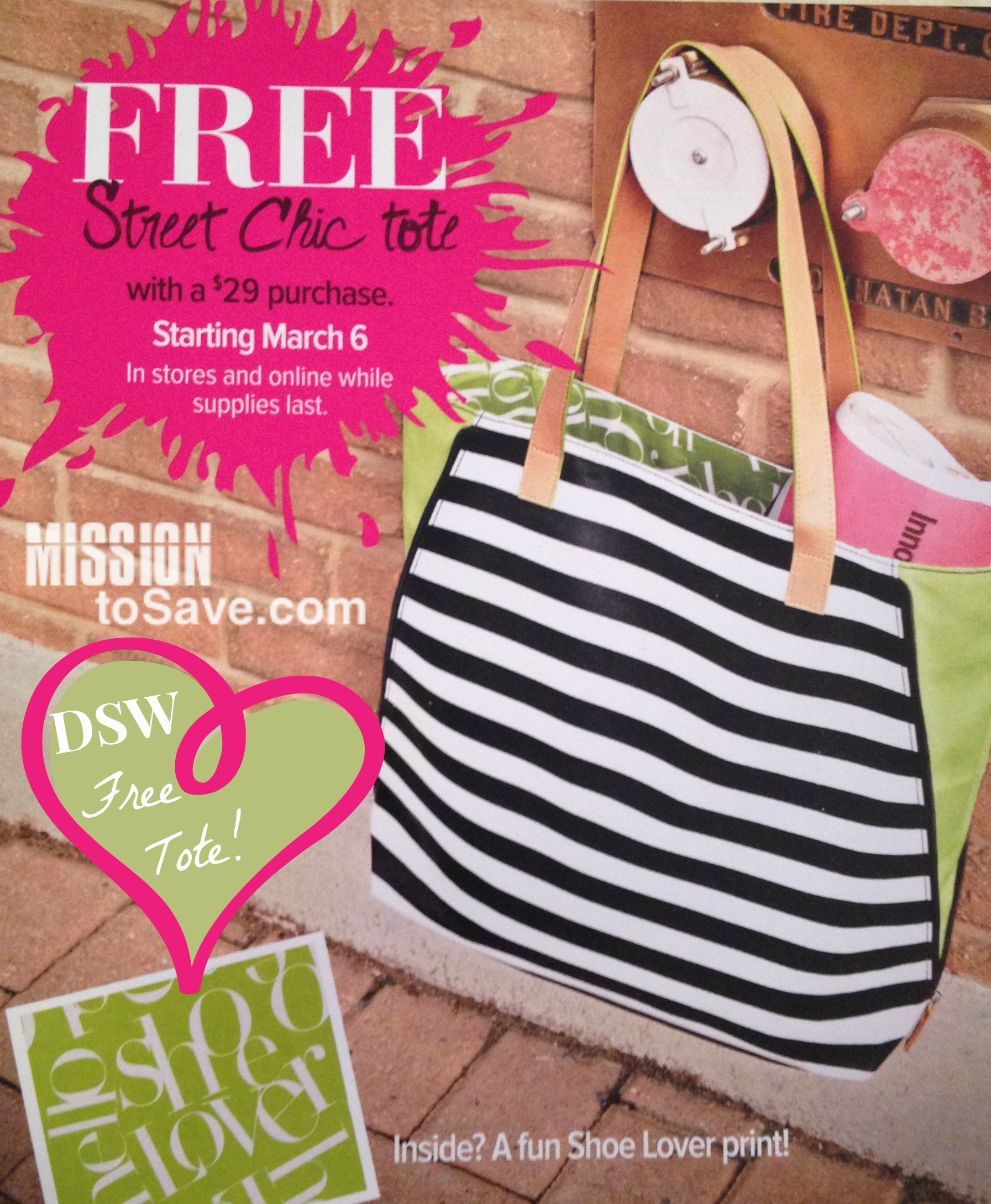 dsw free tote with purchase